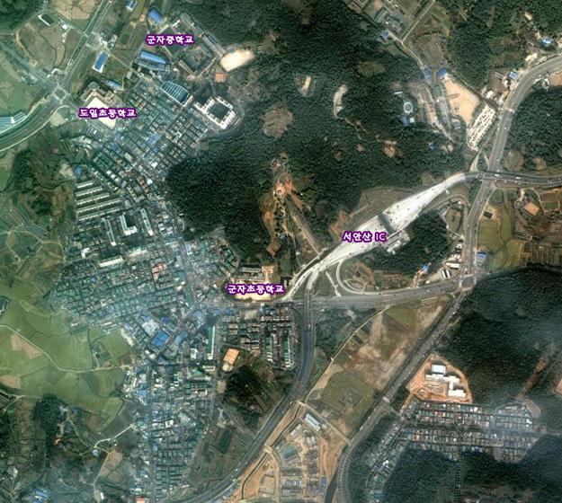 군자초 위성사진