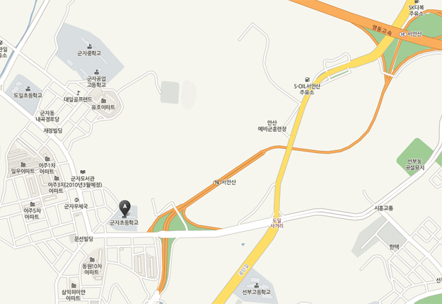 군자초 근처 지도